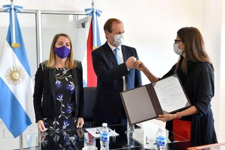Bordet acordó con Nación más acciones en materia de políticas de género