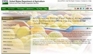El gobierno de Trump suspendió por 60 días la importación de limones de Argentina