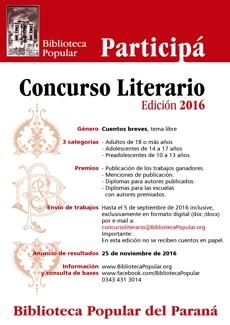 Concurso Literario Biblioteca Popular del Paran�